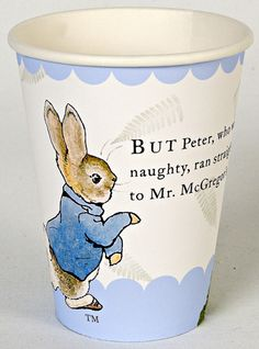 Peter Rabbit Party Cups