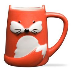 Foxy Tail Fox Mug, Unique Coffee Mug, Cool Ceramic Coffee Mug, Fox Ceramic