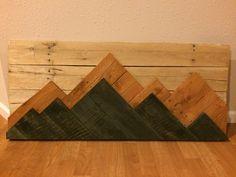 Mountain Pallet Wall Art
