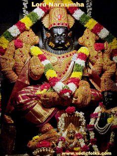 Narasimha Jayanti 2020 brings wealth, prosperity and peace to your homes. Choose Lakshmi Narasimha Homam and absolve your sins and bad Karma Shiva Art, Hindu Art, Radha Krishna Love, Lord Krishna, God Themes, Pawan Kalyan Wallpapers, Ganesh Chaturthi Images, Lord Balaji, Lord Shiva Family
