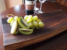 Wine barrel oak serving tray