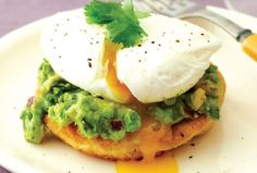 Potato Pancakes with Guacamole and Poached Eggs
