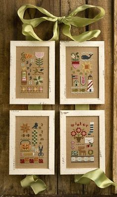 All four seasons cross stitch patterns in one pack (Snippets) from Lizzie Kate - fun stitching all year long! And also a great gift idea for a stitching friend.