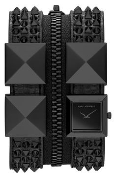 KARL LAGERFELD Double Strap Cuff Watch available at #Nordstrom