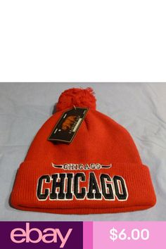 bd55b2a3e0b New Chicago Bulls Team Colors Cuffed Beanie Black and Red with POM Jordan
