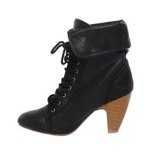 Folded Lace Up Booties! $49.95  Buy these booties at: http://www.dailylook.com/c/11-2011-Downtown-City-Look/1/156.html