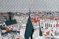 Cambridge Rooftops ed8 by Clare Halifax — cambridge contemporary art Multi Disciplinary, Rooftops, Limited Edition Prints, Textile Design, Cambridge, Printmaking, Screen Printing, Contemporary Art, To Go