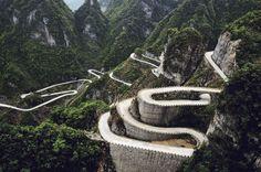 Droga Tianmen Mountain, Chiny, 15 najniebezpieczniejszych dróg na świecie - (Page 9)