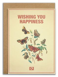 """""""Wishing you happiness"""". #messageearth #sustainable #greetingcards #sustainability #eco #design #ecodesign #vintage #cards #peculiar"""