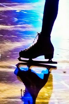 Figure skate on ice by triangle_man, via Flickr