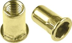 Half Hex Body Large Flange Rivet Nut - Material: Steel-Yellow Zinc, Thread Size: M6 x 1.0 ISO, Grip Range: .70-4.0mm, 100 Piece Box by Jay-Cee Sales and Rivet Inc.. $15.85. Half Hex Body Large Flange Rivet Nut - Material: Steel-Yellow Zinc, Thread Size: M6 x 1.0 ISO, Grip Range: .70-4.0mm