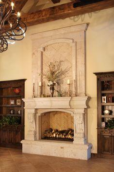 Tuscan elegant bedroom fireplace. WOW!!   Bedroom styles   Pinterest