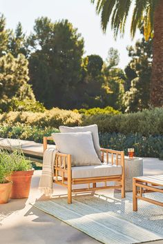Welcome to the great outdoors (your backyard). With the Biya Set, you'll have your patio complete in one fell, stylish swoop. #PatioDecorIdeas #PatioIdeas #OutdoorFurnitureSets