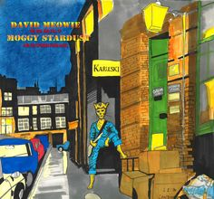 Cat album cover David Meowie Moggy Stardust - homage to David Bowie 'Ziggy Stardust' - ILLUSTRATION LP PRINT