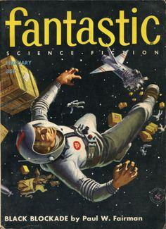 Fantasticvol 5 no 1, February 1956. Cover by Ed Valigursky.