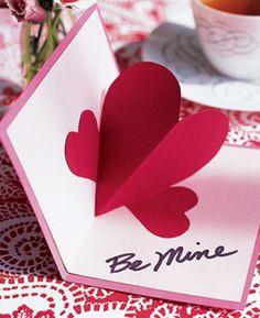 Pop-up Valentine love hearts