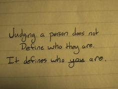 It defines who you are.