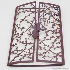 Wedding Card- Forever Vines design with laser cut effect