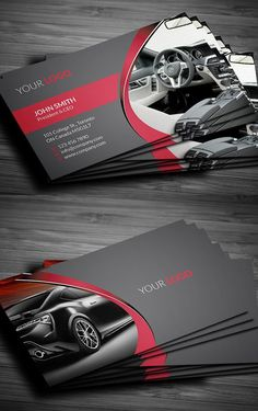 Rent A Car Business Card - Graphic Files Business Cards Layout, Professional Business Card Design, Elegant Business Cards, Business Card Logo, Business Design, Visiting Card Design, Name Card Design, Bussiness Card, Cleaning Business Cards
