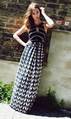 Millie Mackintosh wearing Monsoon's Freida maxi dress