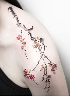 Hongdam flower tattoo