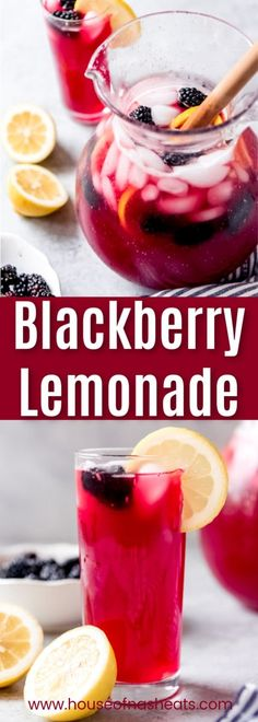 Blackberry Lemonade Homemade Blackberry Lemonade is the perfect drink for spring or summer! Our family loves this easy lemonade recipe with a fun berry twist! Drink Recipes Nonalcoholic, Easy Alcoholic Drinks, Fruit Drinks, Drinks Alcohol Recipes, Punch Recipes, Cold Drinks, Beverages, Easy Lemonade Recipe, Homemade Lemonade Recipes