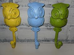 Owl Hook / Wall Hook / Shabby Chic / Spring SALE by Theshabbyshak. $36.00 USD, via Etsy.