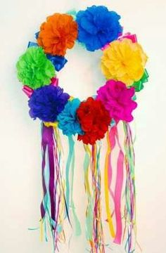 Friday flowers fiesta flowers aunt peaches aunt and fiestas cinco de mayo large flower wreath inspiration only paper flowers and streamers mightylinksfo Gallery