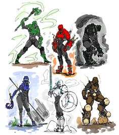 Character Concept, Character Art, Concept Art, Character Design, Drawing Reference Poses, Art Reference, Steampunk Armor, Bio Art, Cyberpunk Character
