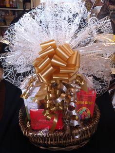 Small Gourmet Treats Basket.  Price range $38-$45.