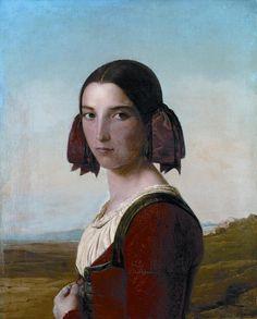 LÉOPOLD ROBERT, JEUNE FILLE DE SEZZE (1831) Musée des beaux-arts La Chaux-de-Fonds, Suisse.