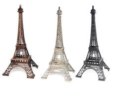 """10"""" Metal Eiffel Tower Cake Topper, Statue, Party Decoration, Centerpiece Paris Theme by PreciouslyCreated4U on Etsy https://www.etsy.com/listing/239386031/10-metal-eiffel-tower-cake-topper-statue"""