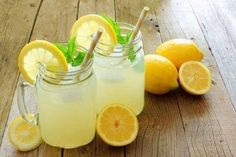 "No lie. Every year we make gallons of this lemonade for local charity fundraising events, and the response from those that drink this lemonade is ""This is the b Diet Drinks, Healthy Drinks, Beverages, Classic Lemonade Recipe, Flavored Ice Cubes, Best Lemonade, Lemon Water, Weight Loss Drinks, Summer Drinks"
