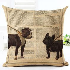 Cats & Dog Lovers Theme Curated Cushion Covers for Frenchie Lovers Pet Owners Cat Lovers (13 Designs)  TO BUY: Comment with your email address and you'll receive a secure checkout link.  Options:  01: $8.99  02: $9.99  03: $9.99  04: $9.99  05: $9.99  06: $9.99  07: $9.99  08: $9.99  09: $9.99  10: $9.99  11: $9.99  12: $9.99  13: $9.99  14: $9.99  15: $9.99  Size : 45x45cm without insert. Material : High quality Cotton Blend Linen. Natural Eco-friendly cushion covers instantly gives a new…