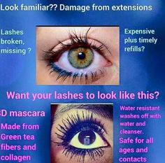 There's no longer a need for costly lash extensions! 3D Fiber Lash Mascara gives you 3x the length, 3x the volume, 3x the WOW!!!  Order yours now from my link below!   www.fabulouslashesnow.com