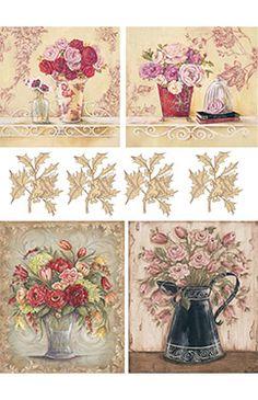 Papier Ryżowy Cadence 059 Bukiety kwiatów Papier ryżowy Cadence - sklep DecoupageArt.pl