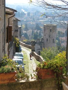 Spello, Italy was a magical little town. The streets and vistas into the valley…