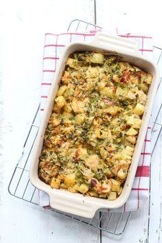 Ovenschotel met aardappel en kip Asian Cooking, Healthy Cooking, Healthy Recipes, Seafood Diet, Food Porn, Oven Dishes, Comfort Food, Food Goals, No Cook Meals