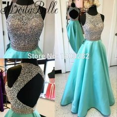 Luxury Beaded Sequins Prom Dresses 2017 Sleeveless A Line Satin Sexy Open Back Party Gala Dressss Graduation Long Prom Gowns