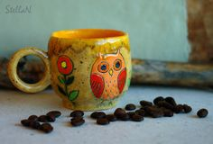 Stella N. Coffe owl cup