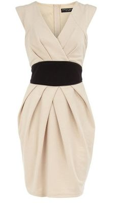 cream and black dress - timeless and gorgeous