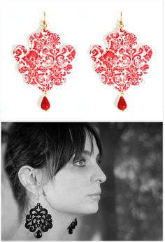 Tita Bijoux - Lace Earrings 'Marocco Damasco' Lace Earrings, Crochet Earrings, Drop Earrings, You Look Pretty, Missoni, Tulle, Jewelry Making, Jewellery, Accessories