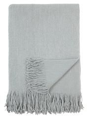 Classic Grey Knitted Throw