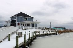 Backside of the Sugar Creek Restaurant in Nags Head, NC. :: January 29, 2014 :: #SnOBX