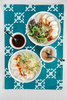 How to make Korean tofu salad with honey soy chilli vinaigrette | MyKoreanKitchen.com