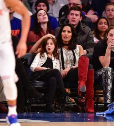 Padma Lakshmi and her daughter, Krishna Lakshmi-Dell, watched the New York Knicks play the San Anton. Padma Lakshmi, New York Knicks, Natalie Portman, Celebs, Celebrities, Cute Kids, Little Ones, Daughter, Anton