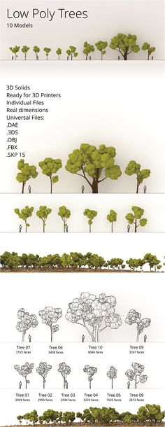3DOcean Low Poly Trees Pack 19390916