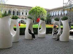 New outdoor seating cafe benches ideas Landscape Elements, Urban Landscape, Landscape Architecture, Landscape Design, Architecture Design, Urban Furniture, Street Furniture, Furniture Dolly, Furniture Online
