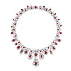 A fine Burmese Mogok 'pigeon blood red' ruby and diamond pendant necklace Ruby And Diamond Necklace, Ruby Necklace, Emerald Jewelry, Diamond Pendant Necklace, Beaded Necklace, Diamond Necklaces, Pearl Earrings, Initial Pendant Necklace, Silver Diamonds