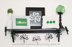 Easy diy paper shamrock banner, perfect for St. Patrick's Day.